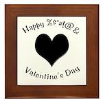 'Cursing Black Heart' Framed Tile