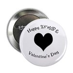 'Cursing Black Heart' Button/Pin/Badge