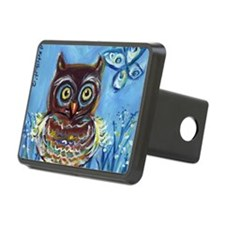 Baby owl butterfly Hitch Cover