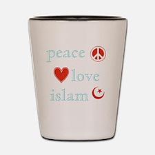 PeaceLoveIslam Shot Glass
