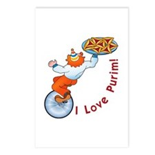I Love Purim!  Postcards (Package of 8)