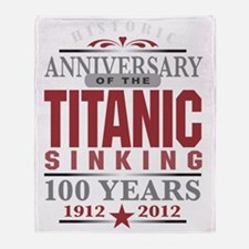 Titanic 100 Yr 2 Throw Blanket