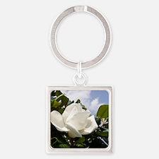 Magnolia In Heaven Square Keychain