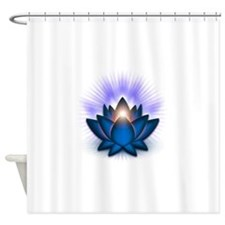 Chakra Lotus - Throat Blue Shower Curtain