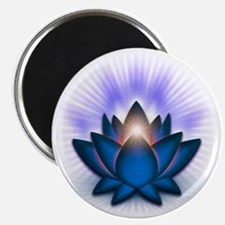 Chakra Lotus - Throat Blue Magnet