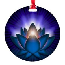Chakra Lotus - Throat Blue - banner Ornament
