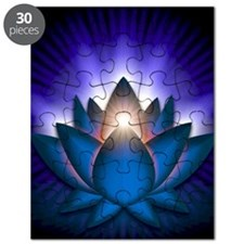 Chakra Lotus - Throat Blue - banner Puzzle