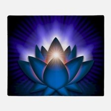 Chakra Lotus - Throat Blue - greetin Throw Blanket