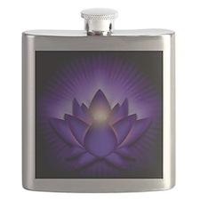 Chakra Lotus - Third Eye Purple - banner Flask