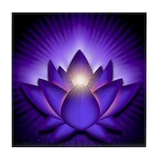 Chakra Lotus - Third Eye Purple - ban Tile Coaster