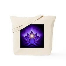 Chakra Lotus - Third Eye Purple - banner Tote Bag