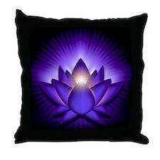 Chakra Lotus - Third Eye Purple - ban Throw Pillow