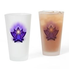 Chakra Lotus - Third Eye Purple Drinking Glass