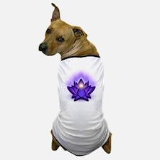 Chakra Lotus - Third Eye Purple Dog T-Shirt