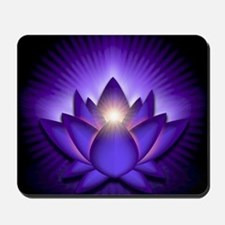 Chakra Lotus - Third Eye Purple - greeti Mousepad