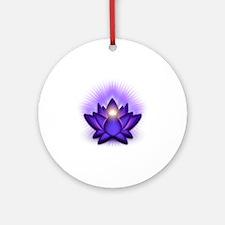Chakra Lotus - Third Eye Purple Round Ornament
