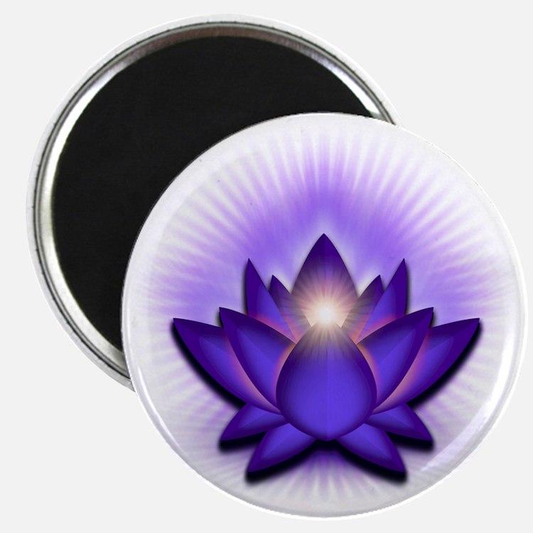 Chakra Lotus - Third Eye Purple Magnet