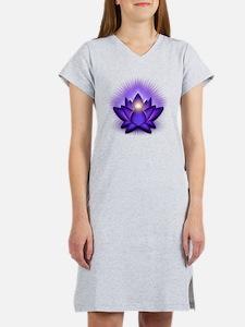 Chakra Lotus - Third Eye Purple Women's Nightshirt