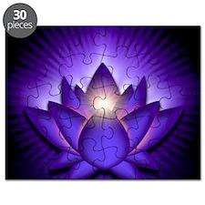 Chakra Lotus - Third Eye Purple - greeting  Puzzle