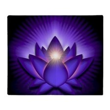 Chakra Lotus - Third Eye Purple - sq Throw Blanket