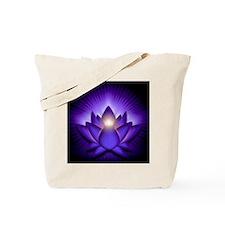 Chakra Lotus - Third Eye Purple - square Tote Bag