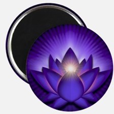 Chakra Lotus - Third Eye Purple - stadium b Magnet