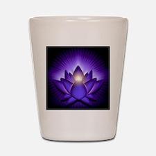 Chakra Lotus - Third Eye Purple - stadi Shot Glass