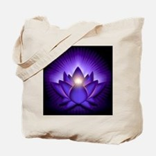 Chakra Lotus - Third Eye Purple - stadium Tote Bag