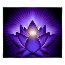 Chakra Lotus - Third Eye Purple - stadi King Duvet
