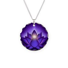 Chakra Lotus - Third Eye Pur Necklace