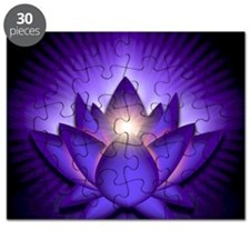Chakra Lotus - Third Eye Purple - stadium b Puzzle
