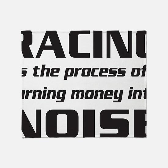 racingnoise-blk Throw Blanket