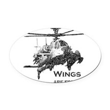 Wings Apache Oval Car Magnet