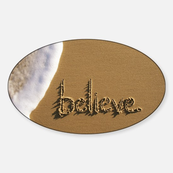 believe Sticker (Oval)