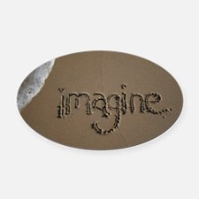 imagine Oval Car Magnet