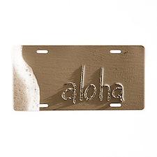 aloha Aluminum License Plate