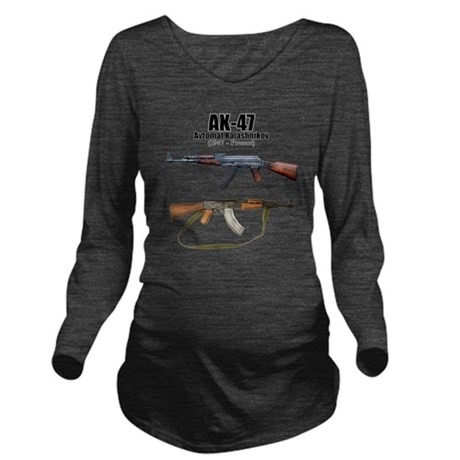 AK-47 Assault Rifle Long Sleeve Maternity T-Shirt