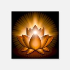 "Chakra Lotus - Sacral Orang Square Sticker 3"" x 3"""