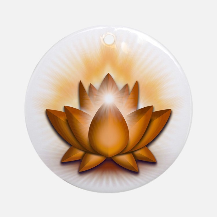 Chakra Lotus - Sacral Orange Round Ornament