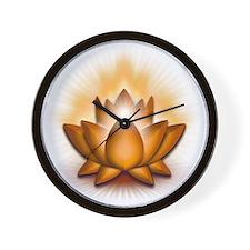 Chakra Lotus - Sacral Orange Wall Clock