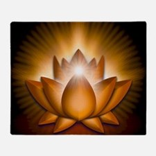 Chakra Lotus - Sacral Orange - greet Throw Blanket