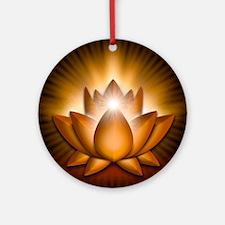 Chakra Lotus - Sacral Orange - bann Round Ornament