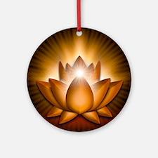 Chakra Lotus - Sacral Orange - gree Round Ornament