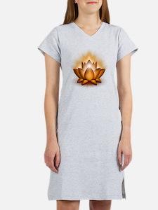 Chakra Lotus - Sacral Orange Women's Nightshirt