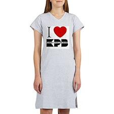 I Love KPB - white Women's Nightshirt