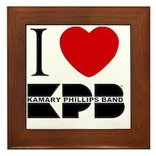 I Love KPB - white Framed Tile
