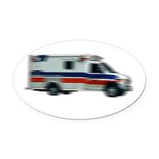 ems-white Oval Car Magnet