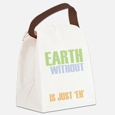 earth without art_dark Canvas Lunch Bag