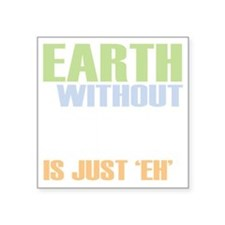 "earth without art_dark Square Sticker 3"" x 3"""