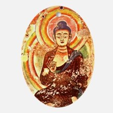 Buddha1 Oval Ornament